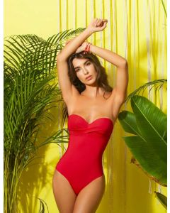 Fajas One Piece Swimsuit Red